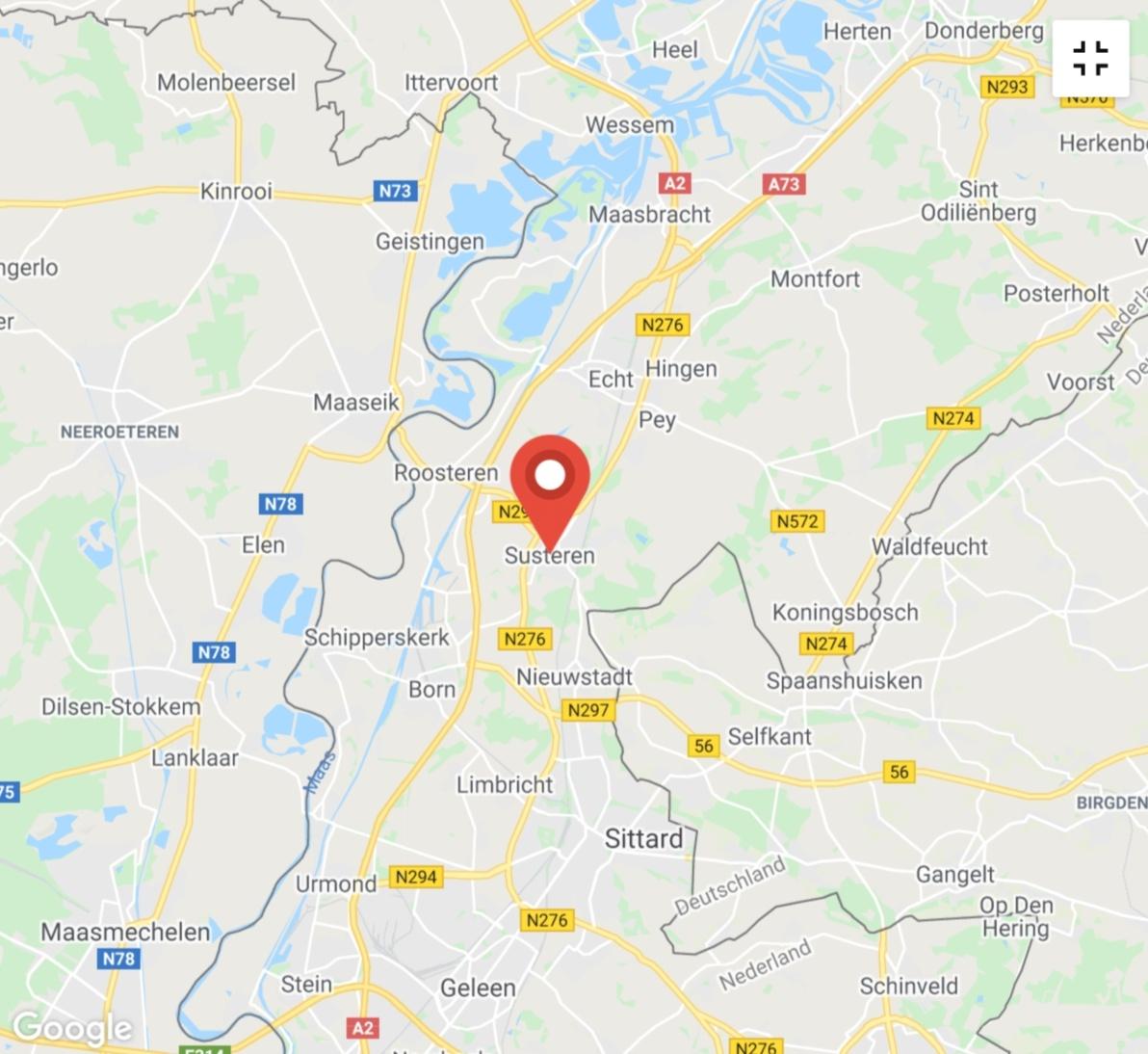 Kaart coronatest-susteren.com - Coronavirus test locaties Roermond